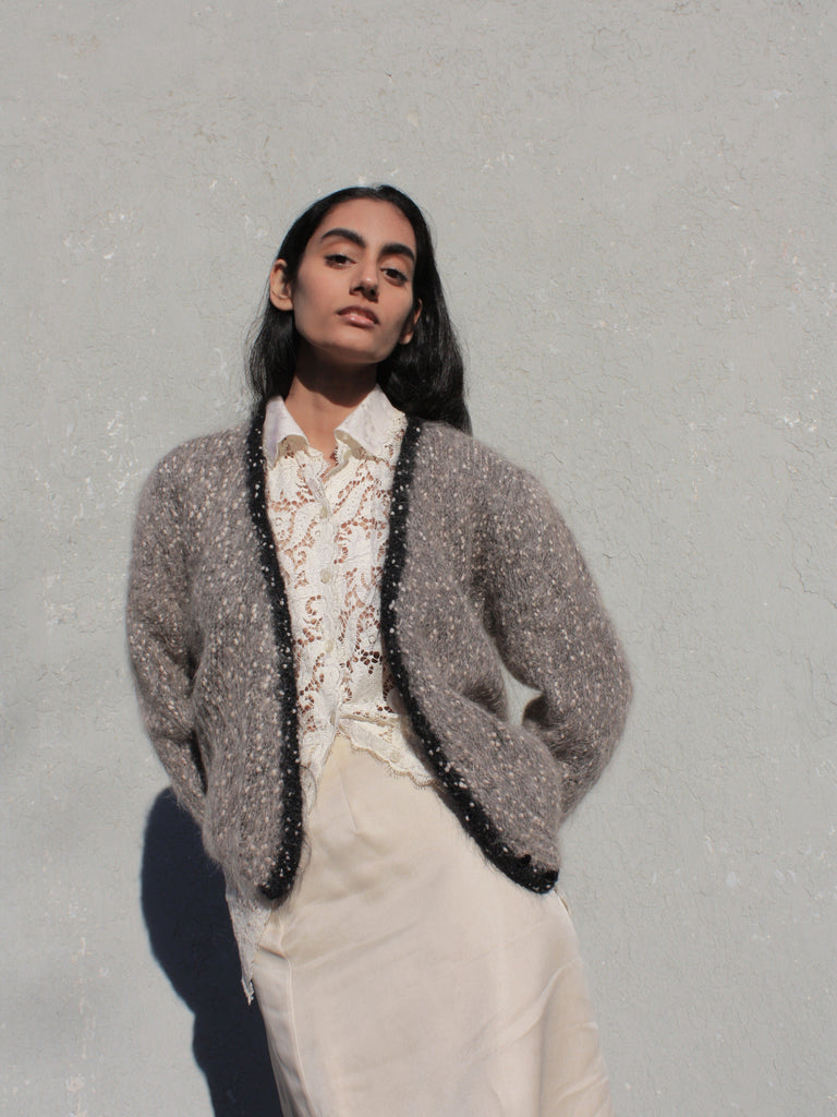 Speckled Mohair Knit