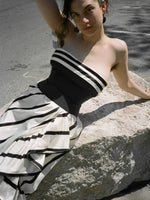 70s Stripe Gown