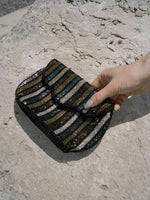 Beaded Stripe Evening Bag