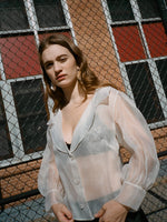 Silk Organza Sheer White Top