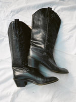 Snakeskin Panel Cowboy Boots