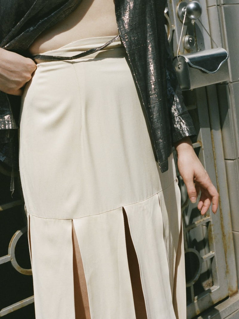 Car Wash Pleated Skirt