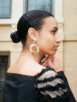 Oversized Drop Hoop Earrings