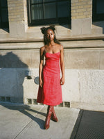 Prada Red Linen Sundress