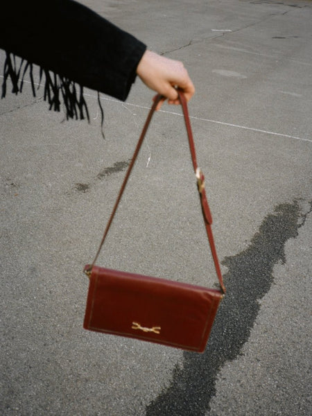 Oxblood Leather Shoulder Bag