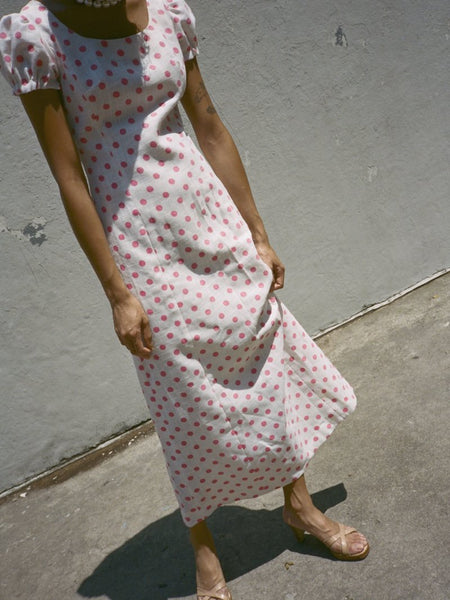 Pink Polka Dot Day Dress