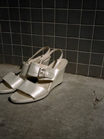 Charles Jourdan Pearl Wedge Sandals (8.5)