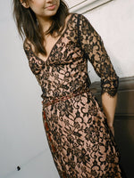 00s Sheer Lace Cocktail Dress