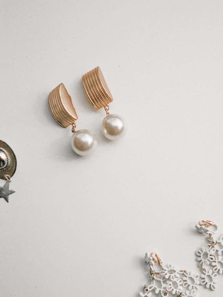 Oversized Pearl Drop Earrings