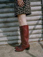 Oxblood Knee High Boots