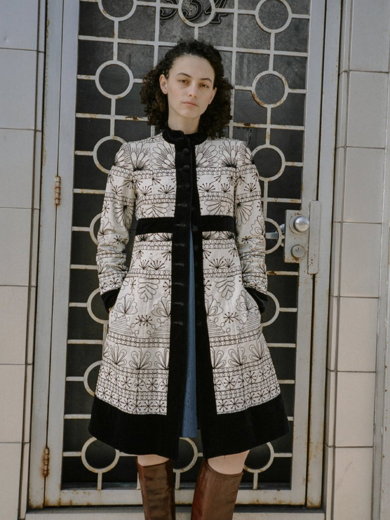 00s Embroidered Coat