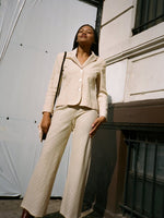 Lightweight Cream Stripe Suit