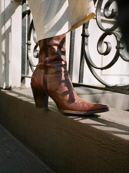 Oxblood Pointed Toe Boots