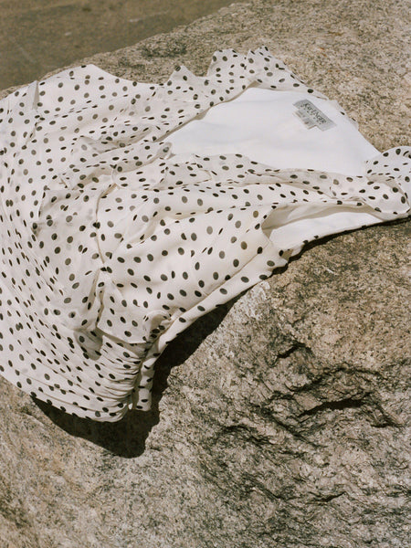 Ruched Polka Dot Shell
