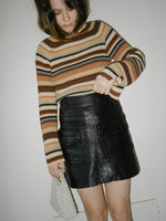 Pocketed Leather Miniskirt