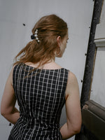 Bill Blass Windowpane Silk Corset
