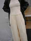 Cream Silk Pants