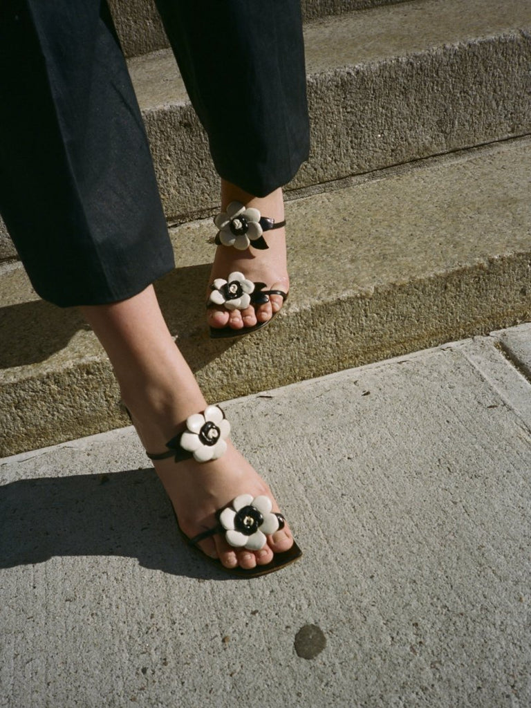 Flower Wedge Sandals