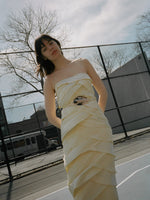 Tiered Silk Gown