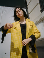 1960s Gridded Yellow Coat