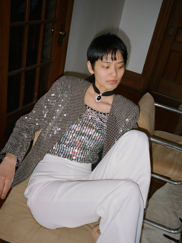 Sequined Polka Dot Jacket