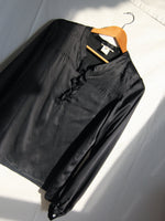 Black Silk Satin Shirt