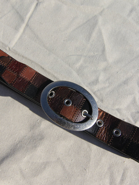 Patchwork Leather Belt