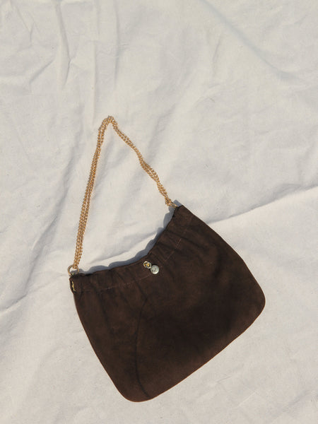 Chain Strap Suede Bag