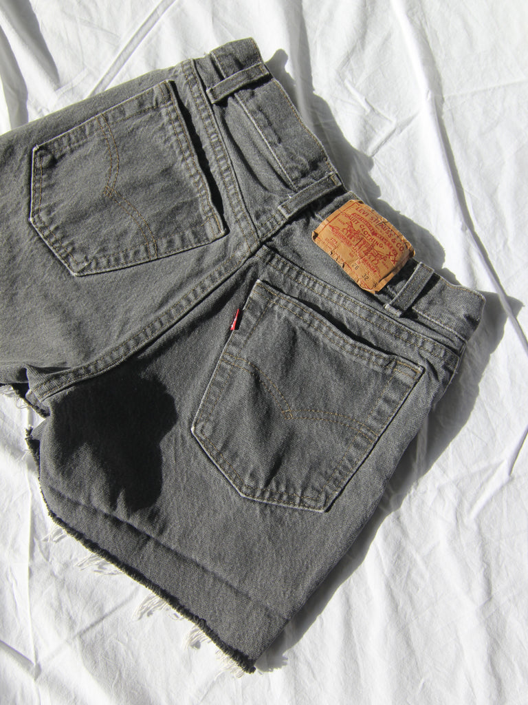 Charcoal Levis Cutoffs
