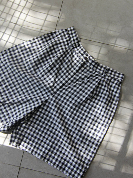Gingham Bermuda Shorts