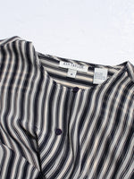 Ticking Stripe Silk Blouse