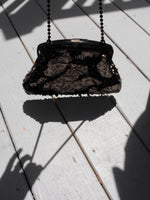 Metallic Beaded Frame Bag