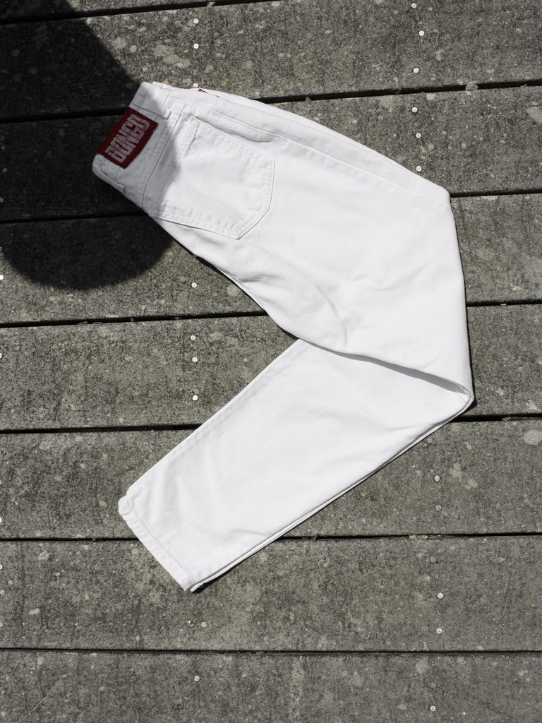 90s Tapered White Denim
