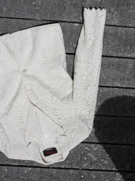 Cream Lace Blazer