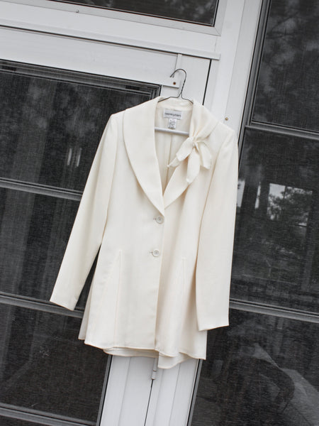 Cream Shawl Collar Blazer