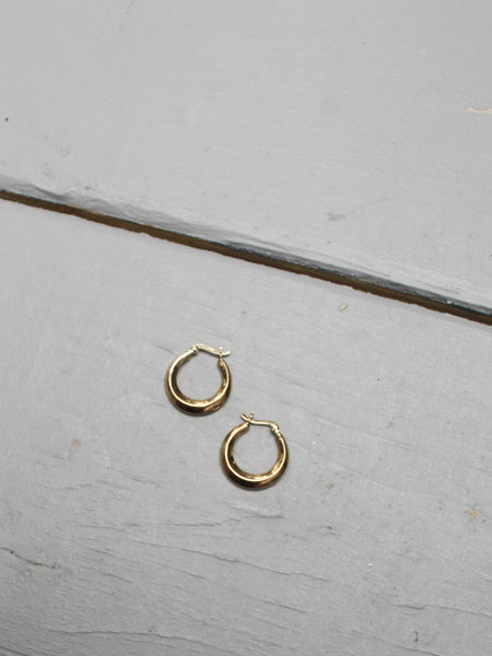 Gold Finish Sterling Hoops