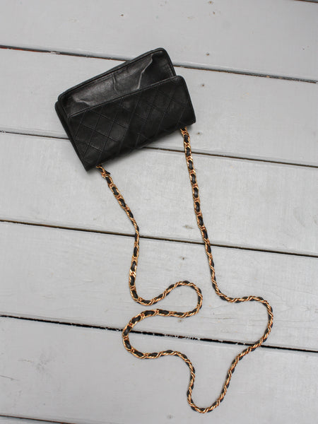 Chain Strap Quilted Leather Bag