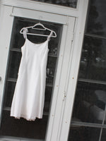 Chiffon Trim Linen Sundress