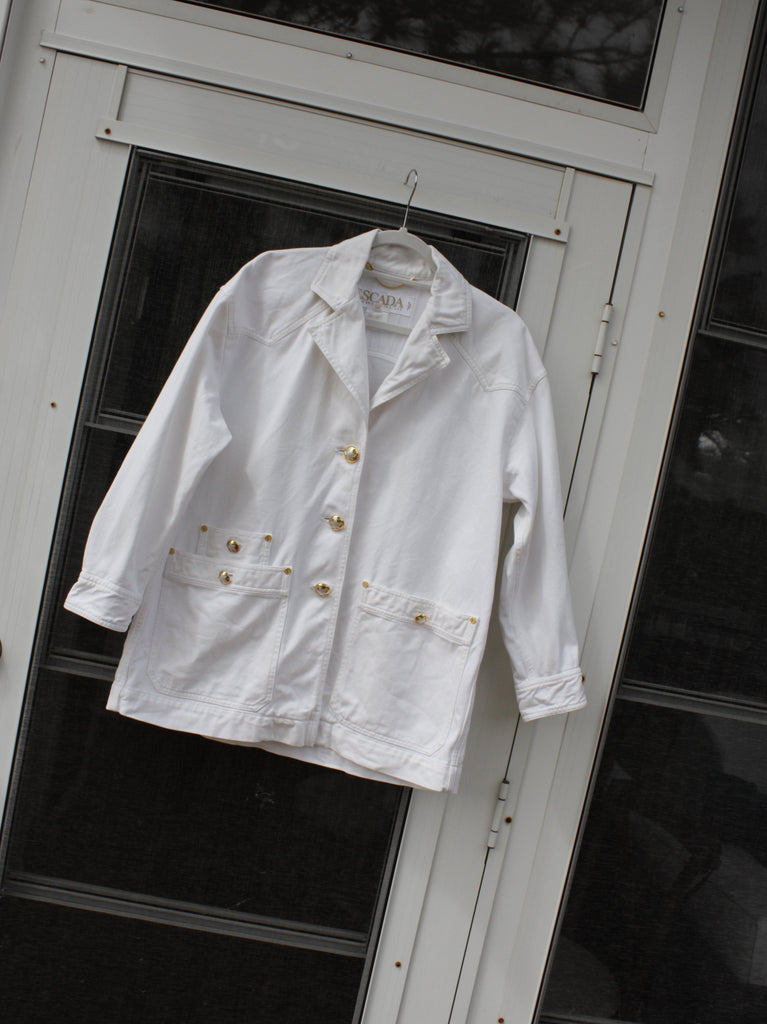Escada White Denim Jacket