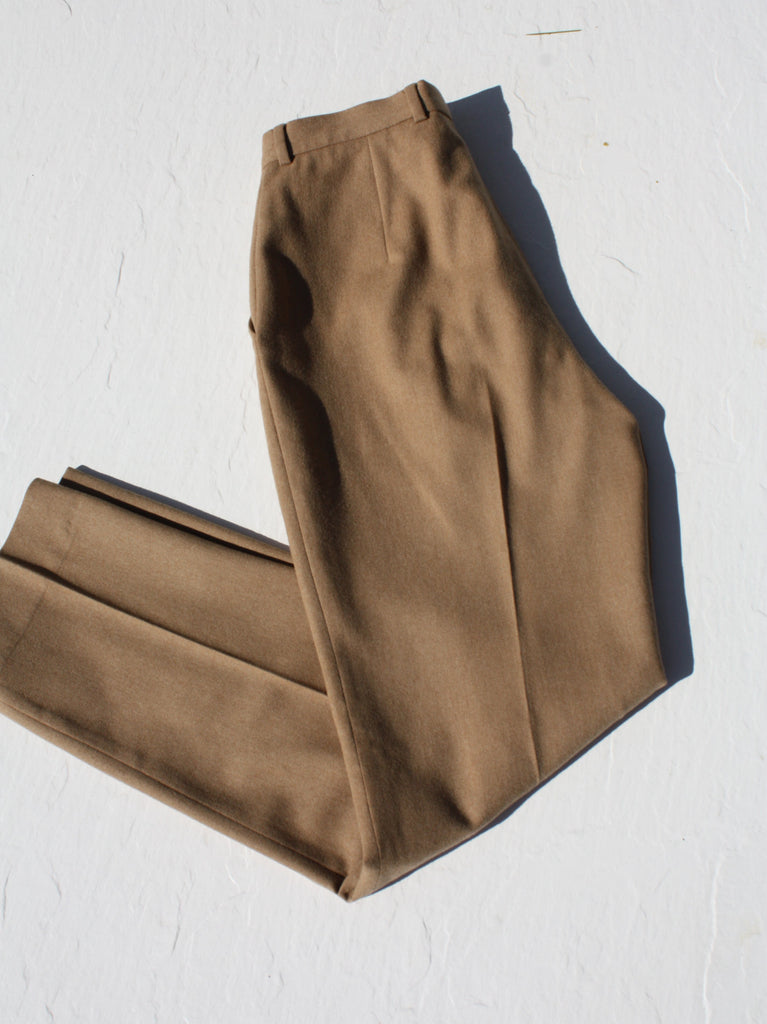 Calvin Klein Camel Wool Trousers
