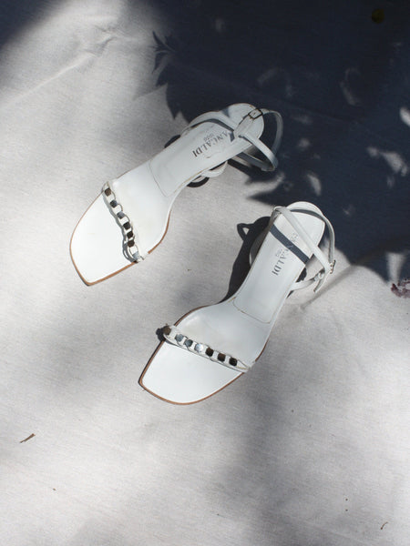White Leather Sandals (9.5)