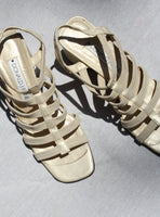Elastic Caged Sandals (8.5)