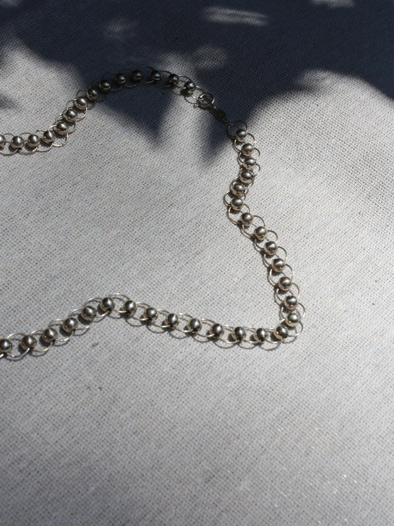 Circle Link Sterling Necklace