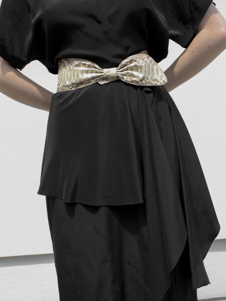 Snakeskin Wrap Belt