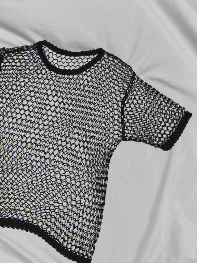 Fishnet Beaded Tee