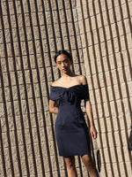 Navy Silk Minidress