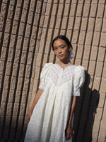 Puff Sleeve Off-White Dress