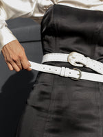 Coach White Leather Belt