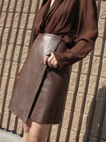 Michael Kors Leather Wrap Skirt