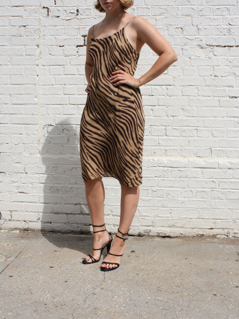 Tiger Silk Slip Dress